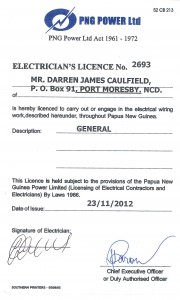 Darren PNG Elect License