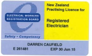 NZ Elect license